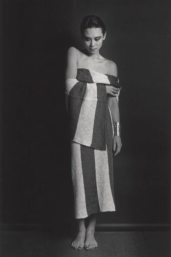 TINA CHOW - NYC 1983 by Marcus Leatherdale for Issey Miyake