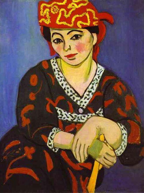 Henri-Matisse-art-painting-Madame-Matisse-madras-rouge