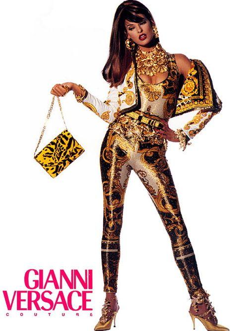 Linda Evangelista Versace Couture Ad