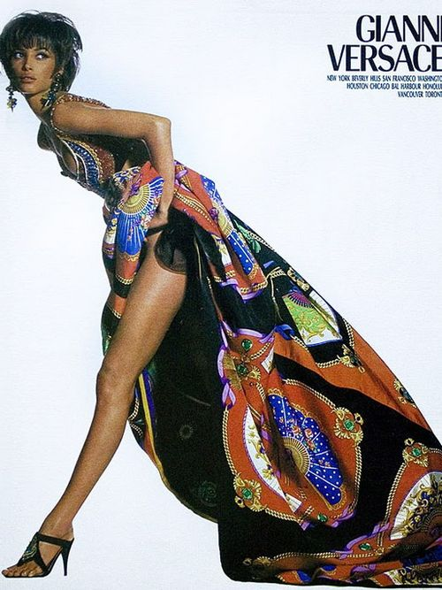 Christy Turlington Gianni Versace Ad